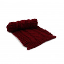 Wintersjaal lange sjaal kabelpatroon