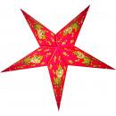 Poinsettia 60 cm papierowa gwiazdkowa dekoracja św