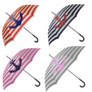 Großhandel Regenschirme: Aktionssortiment: 12 Stockschirme Maritim Anker