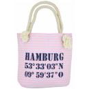 Großhandel Handtaschen: XS Shopper Hamburg Shopper Tasche Koordinaten