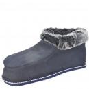 Hut slipper lambskin sheepskin leather warm fur