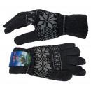 Knitted mittens star pattern Norwegian winter