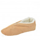 Suede slipper genuine leather wool lining Schluffi