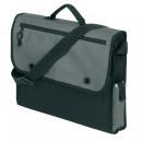 Großhandel Handtaschen: Doku-Tasche Relax , 600D, schwarzgrau