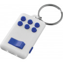 wholesale Home & Living: Keychain Flip & Click LED- white blue
