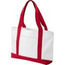 ingrosso Borse per la spesa: Shopper Madison bianco con rosso
