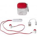 mayorista Electronica de ocio: Presupuesto Headset BT Earbuds w. Caso rojo
