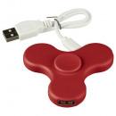 wholesale USB-Accessories: Spin-It Widget USB HUB red