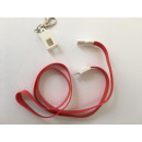 wholesale Fan Merchandise & Souvenirs: 2-in-1 charging cable lanyard colors in mix