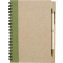 nagyker Ajándékok és papíráruk: Notebook Újrahasznosítás zöld