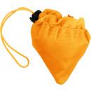 Großhandel Taschen & Reiseartikel: Faltbare Einkaufstasche orange