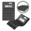 Calculator black rubber flexible