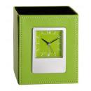 grossiste Horloges & Reveils: Porte-plume avec horloge verte