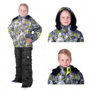 Ski jacket and ski  pants for children neon size 11
