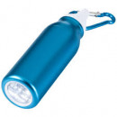 wholesale Flashlights: Flashlight Flow  with LED and karabiner blue