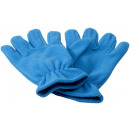 wholesale Gloves: Buffalo fleece gloves sky blue