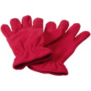 wholesale Gloves: Buffalo fleece gloves red