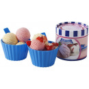 Sundae set 400 ml plastic 2 piece