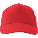 Großhandel Kopfbedeckung: Kappe Acryl, mit 5 Platten, rot