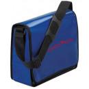 wholesale Handbags: Shoulder bag Tarpaulin white with black piping *