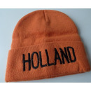 Muts gebreid oranje Holland
