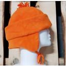 Winter hat with pumpkin orange fleece