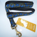 Belt Snobdog 2.5 x 160 cm blue lime on black nylo