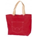 wholesale Jeanswear: Jeans bag red / beige zippered