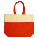 ingrosso Borse per la spesa: Shopper cotone beige arancione