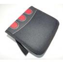 grossiste Fournitures scolaires: boîtier de CD pour  24 CD avec logo noir et rouge s