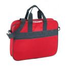 Shoulder bag red non woven