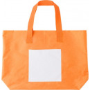 Beach bag  polyester orange  with white front ...