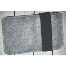 wholesale Mobile phone cases: Case felt gray 8.5 x14 cm