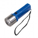 wholesale Flashlights: Flashlight blue  METAL HEAD made of plastic with cu