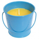 Scented Candle  CITRUS JAR in blue metal bucket.