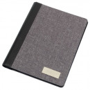 A5 writing folder LINEN gray with black
