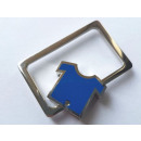 Großhandel Shirts & Tops: Schlüsselanhänger Metallhemd blau