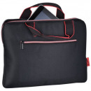 Laptop Bag black with red details