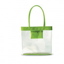 Beach bag transparent green