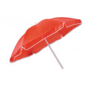 wholesale Aquatics & Beach: Beach umbrella red  with white piping polyester