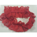 Garter of red lace polyamide