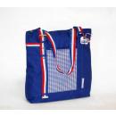 groothandel Boodschappentassen: Shopper blauw  geruit Ik hou van Holland