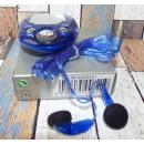 grossiste Electronique de divertissement: radio FM, gris bleu écouteurs