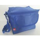 Cooler bag blue nylon for 6 cans