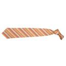 wholesale Shirts & Blouses: Tie André Philippe orange beige stripe silk