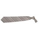 Großhandel Hemden & Blusen: Krawatte Franco Frego dunkelgrauer Streifen diagon