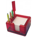 wholesale Displays & Advertising Signs: Memo holder red with note papers, without pen 13