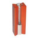 grossiste Electronique de divertissement: Vase Florence de verre dans le support de bois