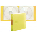 wholesale DVDs, Blue-rays & CDs: Plastic CD holder for 24 CDs (157 yellow, 27 grows