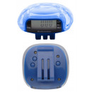 wholesale Sports and Fitness Equipment: Pedometer blue transparent plastic